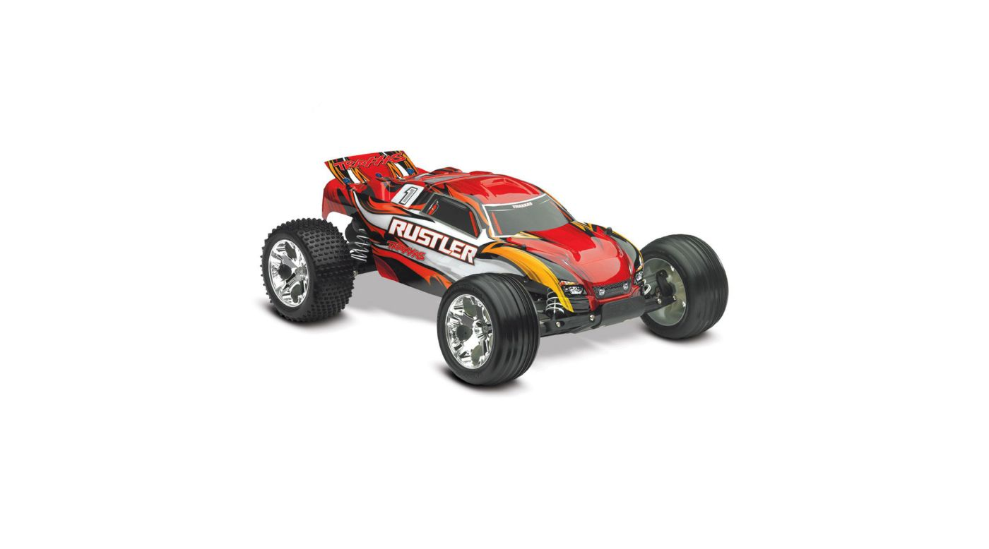 Image for 1/10 Rustler Stadium Truck RTR with TQ 2.4GHz, Xl-5, Red from HorizonHobby