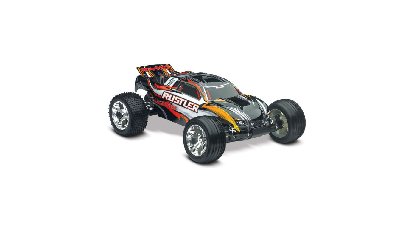 Image for 1/10 Rustler Stadium Truck RTR with TQ 2.4GHz, Xl-5, Black from HorizonHobby
