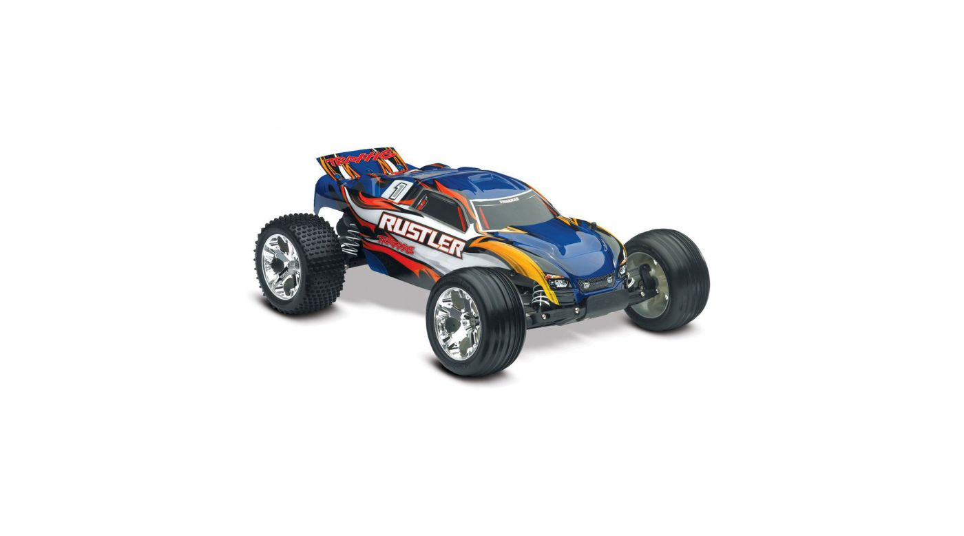 Image for 1/10 Rustler Stadium Truck RTR with TQ 2.4GHz, Xl-5, Blue from HorizonHobby