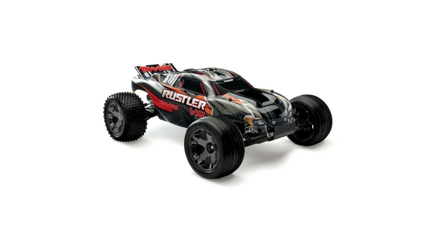 Image for 1/10 Rustler VXL 2WD Brushless RTR with TSM, Black from HorizonHobby