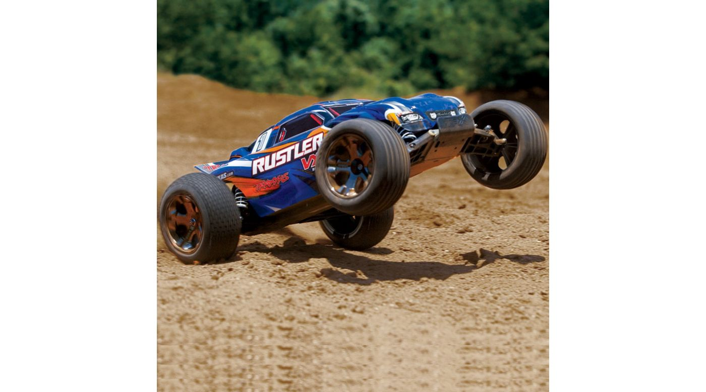 Image for 1/10 Rustler VXL 2WD Brushless RTR with TSM, Blue from HorizonHobby