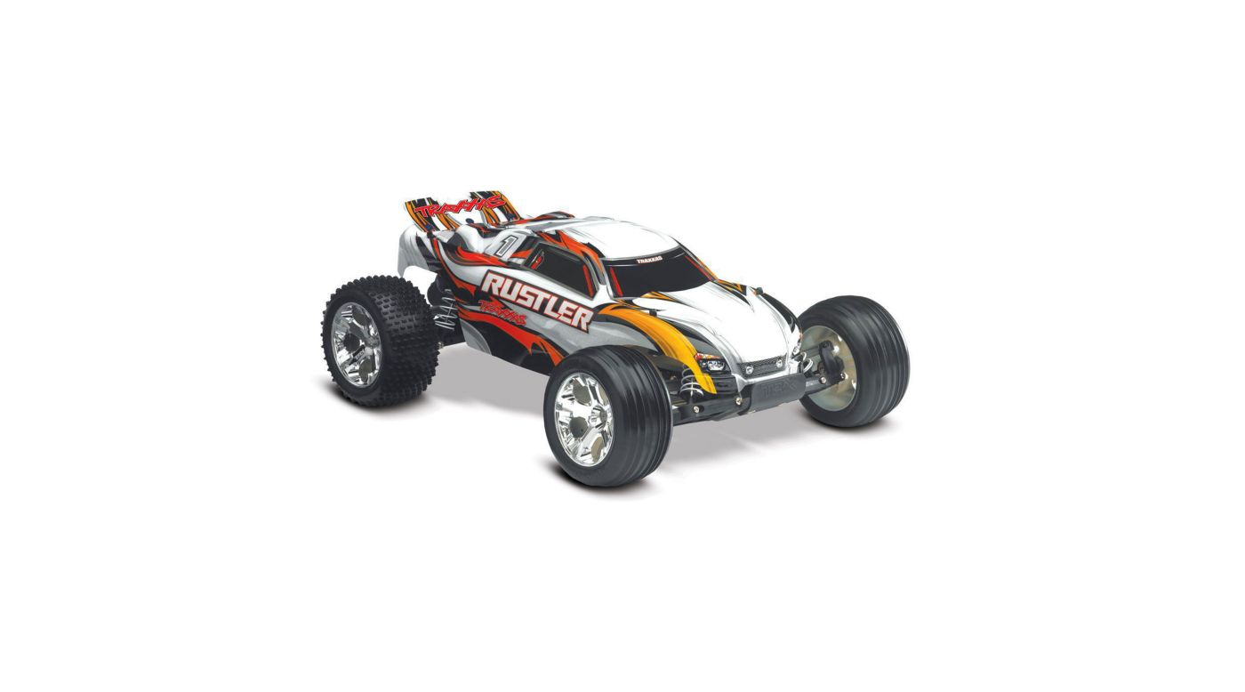 1 10 Rustler Vxl Rtr With Tqi 24ghz Radio Silver Horizonhobby Tiny Rc Cars Transmitter And Charger Circuit 2 X Aa Cell 27mhz Image For From