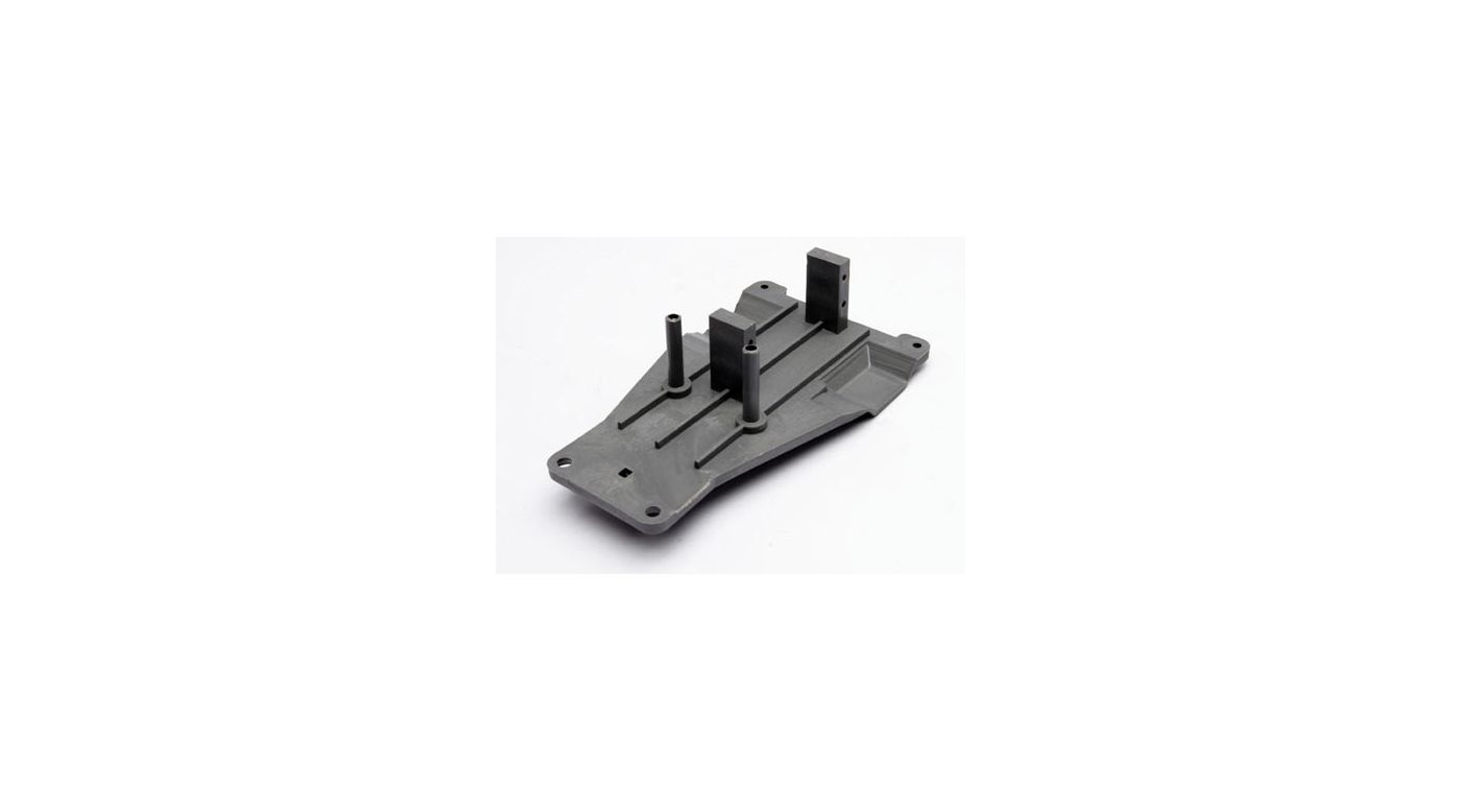 Image for Upper Chassis, Grey:Rustler from HorizonHobby