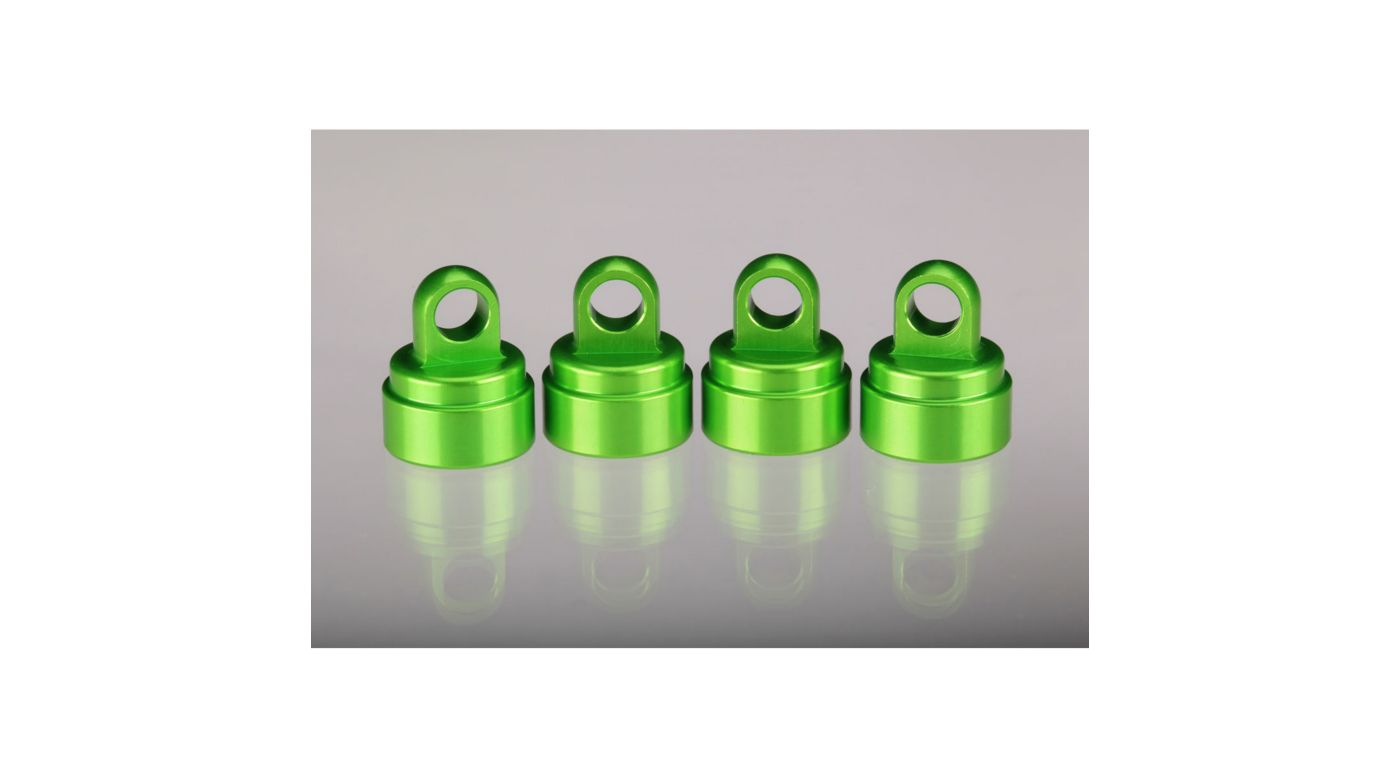 Image for Aluminum Shock Caps Green (4): Ultra Shocks from HorizonHobby