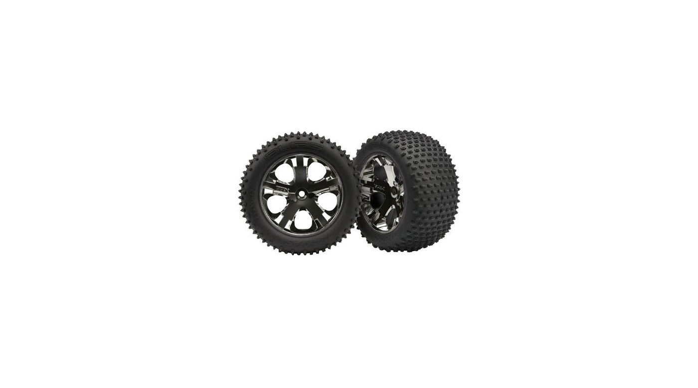Image for All-Star Blk Chrome Whls w/ Alias Tires (2),R: VXL from HorizonHobby