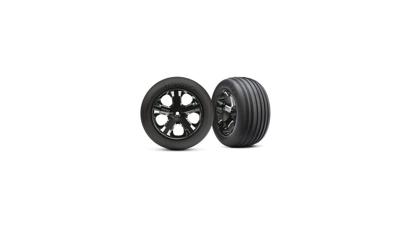 Image for All-Star Blk Chrome Whls w/ Alias Tires (2),FR:VXL from HorizonHobby