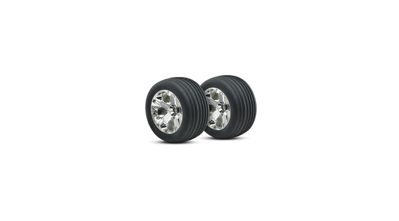 Image for Chrome Wheel, Front w/Alias Tire (2): RU from HorizonHobby