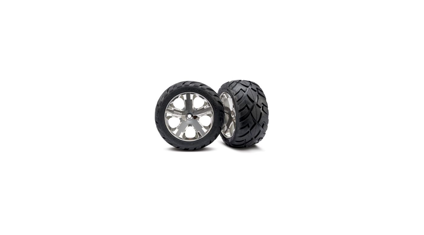 Image for R All-Star Wheels Chrome,Anaconda Tire(2):Electric from HorizonHobby