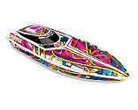 Traxxas - Blast Race Boat with TQ 2.4GHz Receiver RTR: Full Multi Color