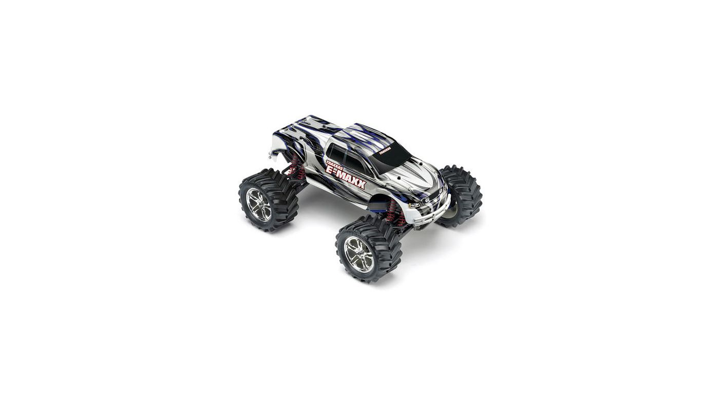 Image for 1/10 E-Maxx 4WD Monster Truck RTR without Module, Silver/Blue from HorizonHobby