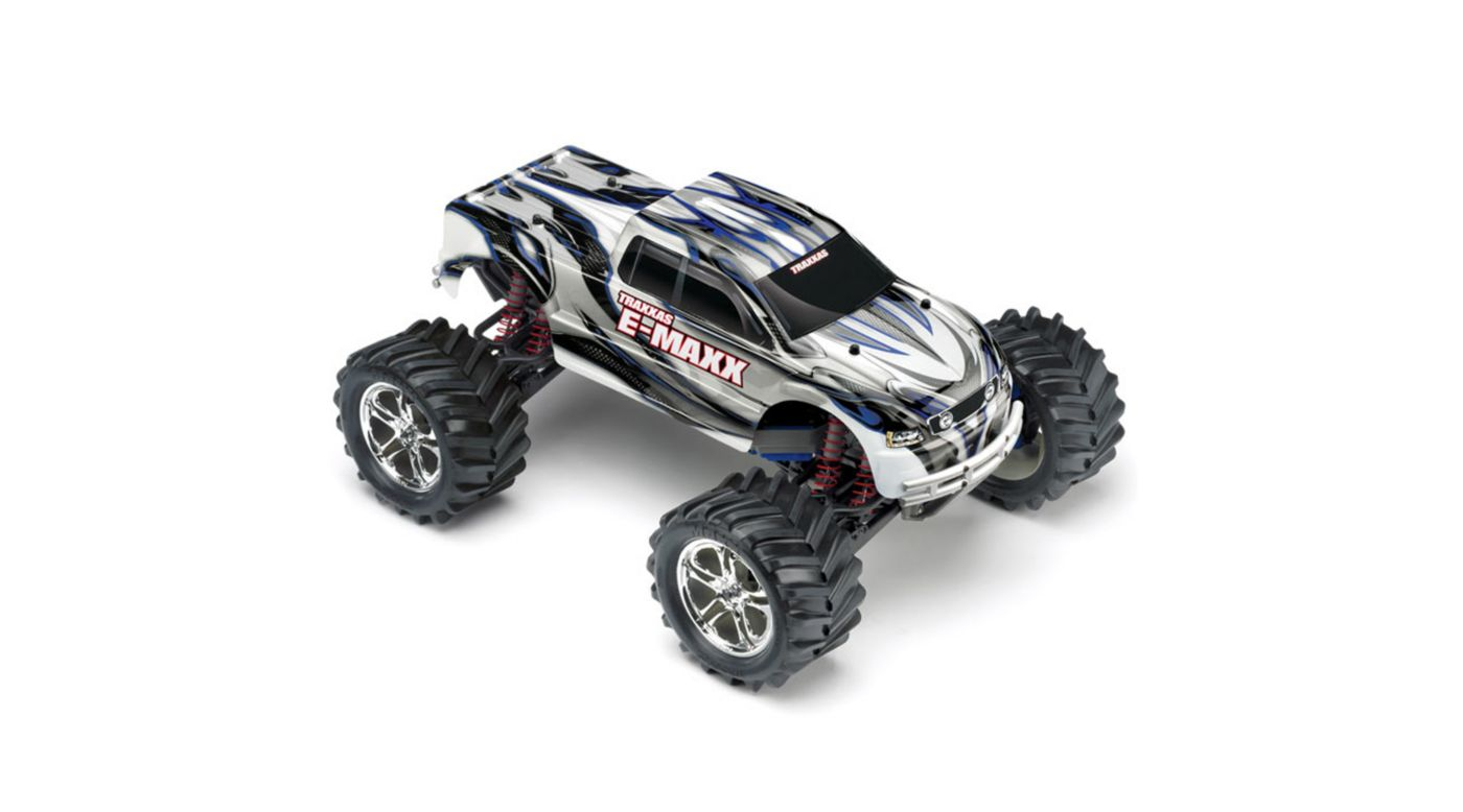 Image for 1/10 E-Maxx 4WD RTR Truck with 2.4GHz TQi Radio, Silver from HorizonHobby
