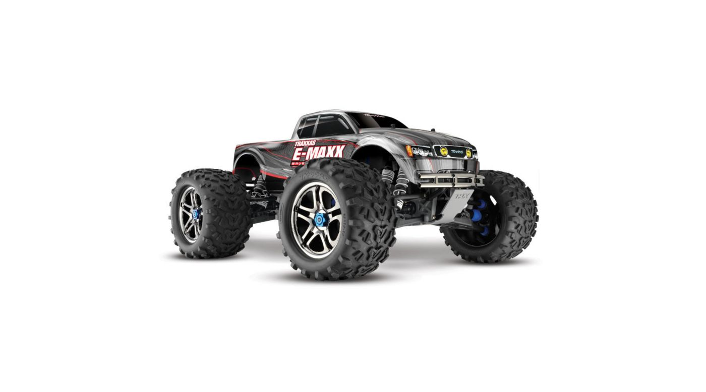 Image for 1/10 E-Maxx 4WD Monster Truck Brushless RTR with TSM, Silver from HorizonHobby