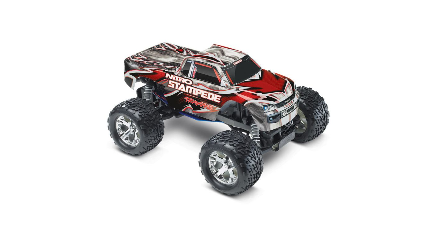 Image for 1/10 Nitro Stampede RTR with TRX Pro .15, TQ 2.4GHz, Red/Grey from HorizonHobby