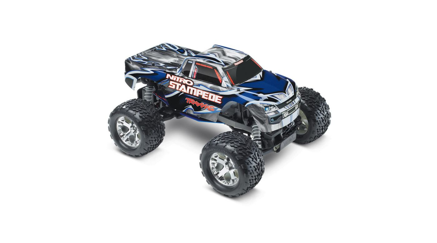 Image for 1/10 Nitro Stampede RTR with TRX Pro .15, TQ 2.4GHz, Blue/Grey from HorizonHobby