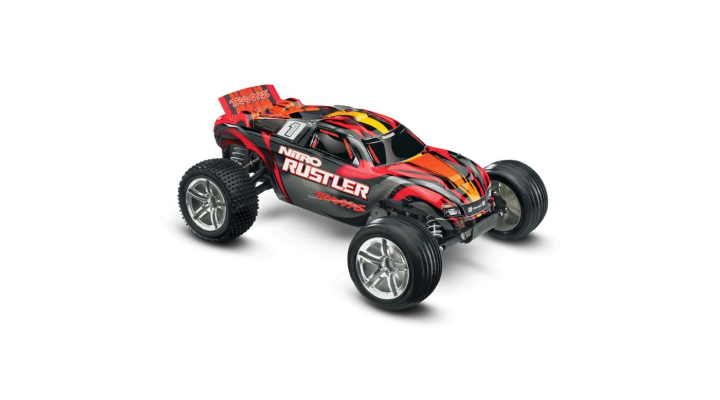 Image for 1/10 Nitro Rustler 2.5 2WD Stadium Truck RTR with TSM, Red from HorizonHobby