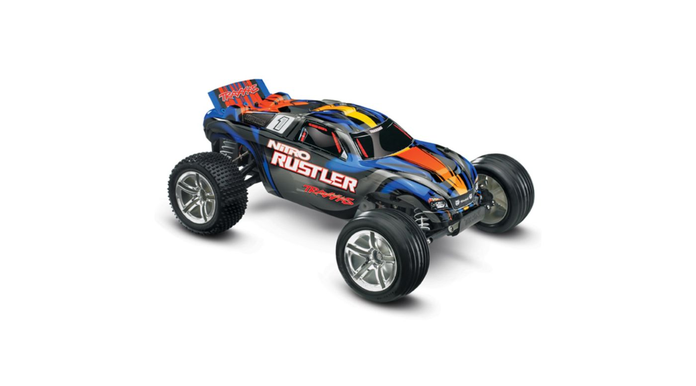 Image for 1/10 Nitro Rustler 2.5 2WD Stadium Truck RTR with TSM, Blue from HorizonHobby