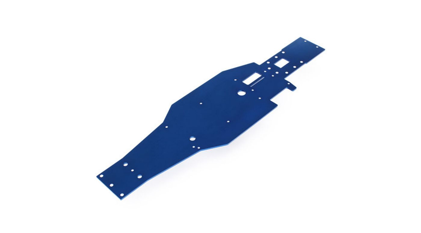 Aluminum Lower Chassis, Blue: Nitro Slash   HorizonHobby