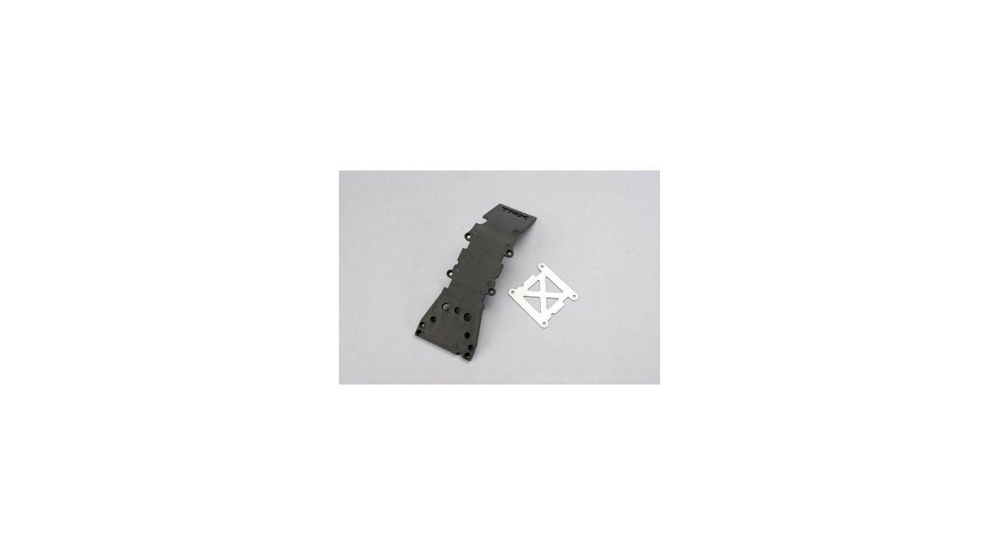 Image for Skidplate, Fr, Grey: TMX, TMX 3.3, EMX from HorizonHobby