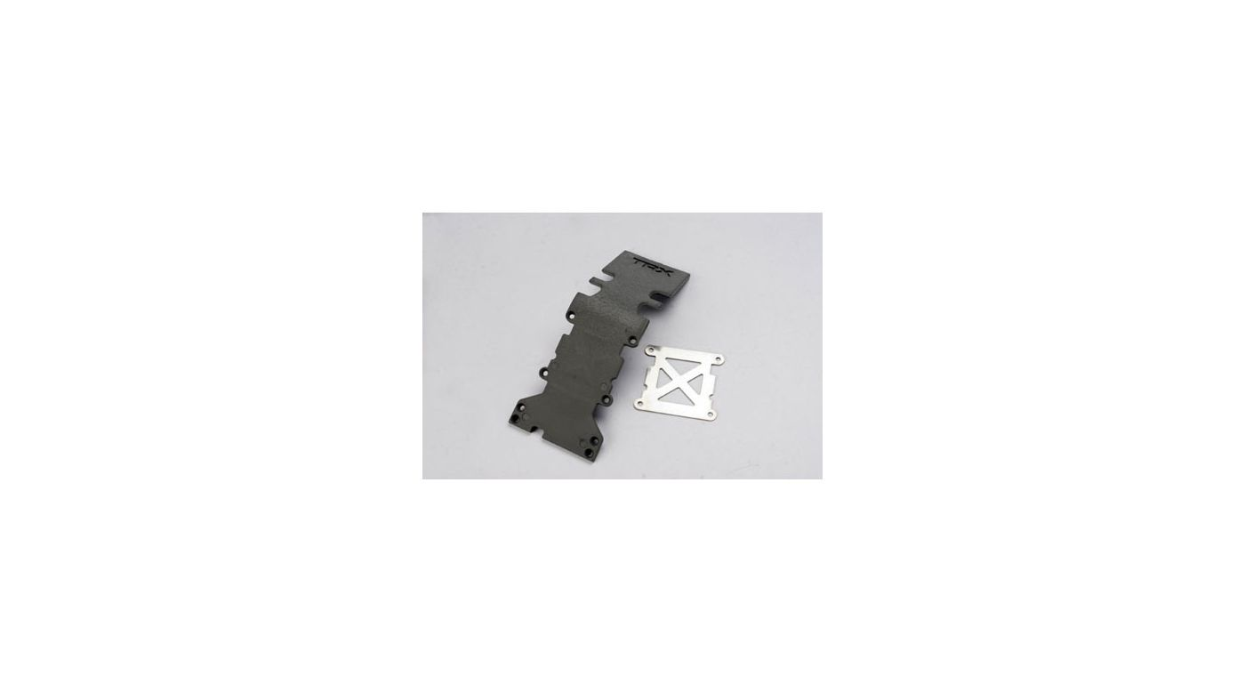 Image for Rear Skidplate, TMX, Grey: TMX 3.3, EMX from HorizonHobby