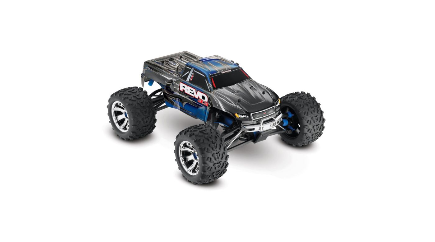 Image for 1/10 Revo 3.3 4WD Nitro Monster Truck RTR with TSM, Blue from HorizonHobby