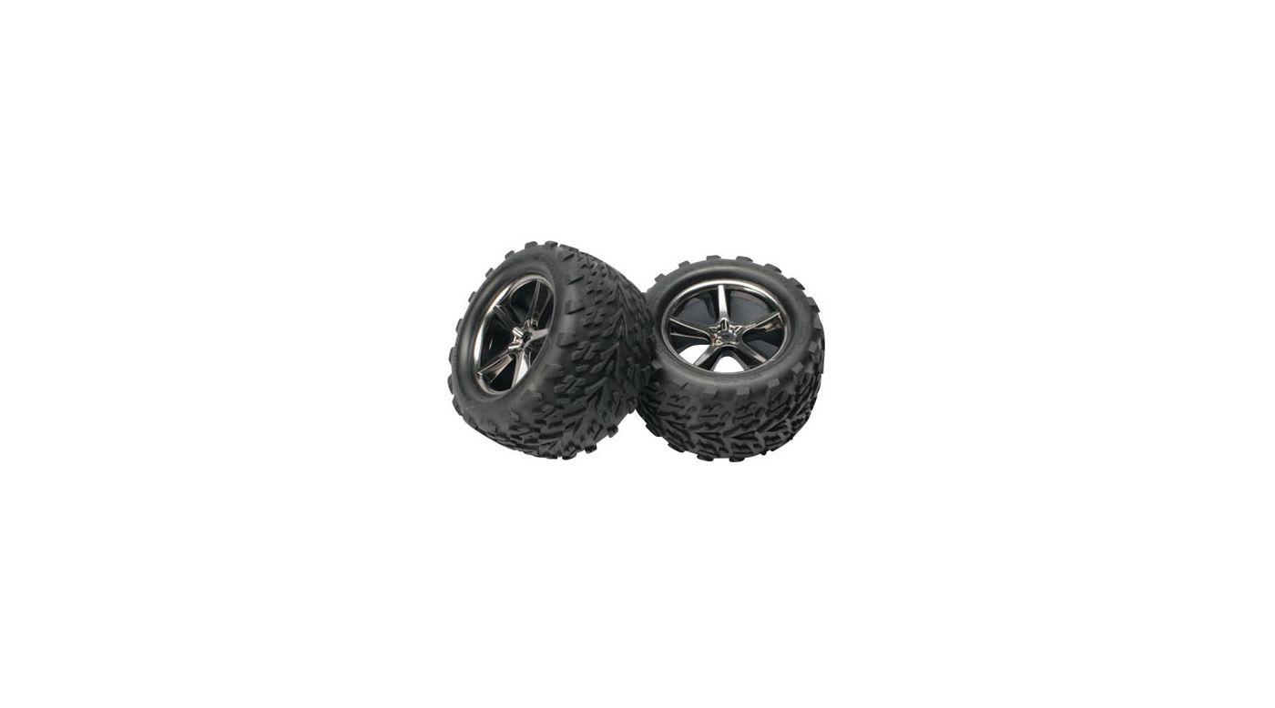 Image for Gemini Black Chrome Wheel w/ Talon Tire (2):E-Revo from HorizonHobby