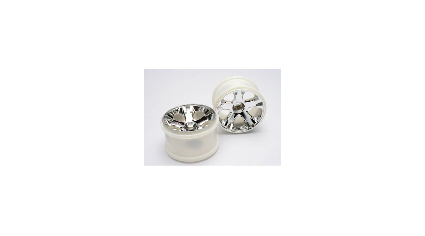 Image for Rear All Star Wheels, Chrome (2): Jato, Jato 3.3 from HorizonHobby