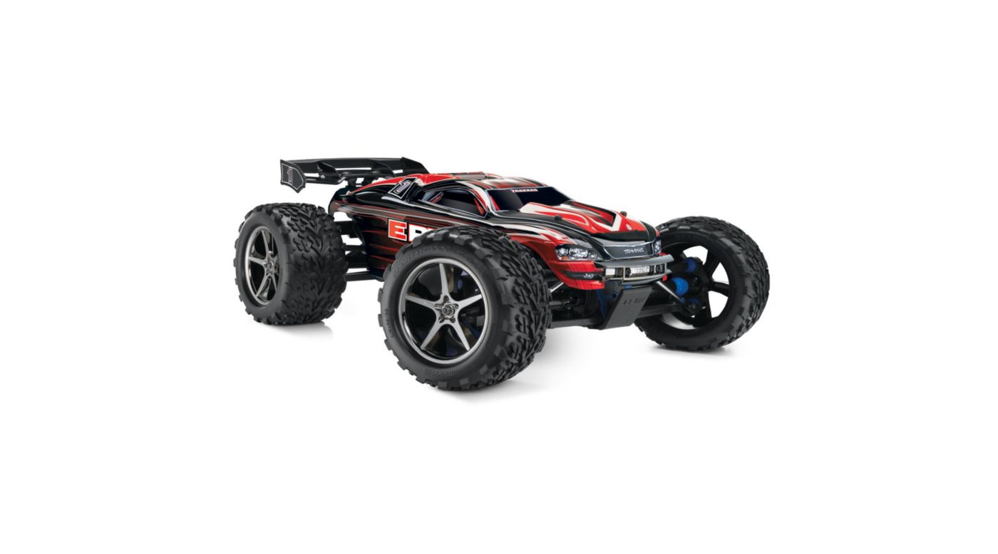 Image for 1/10 E-Revo 4WD Monster Truck Brushed RTR with TSM, Red from HorizonHobby