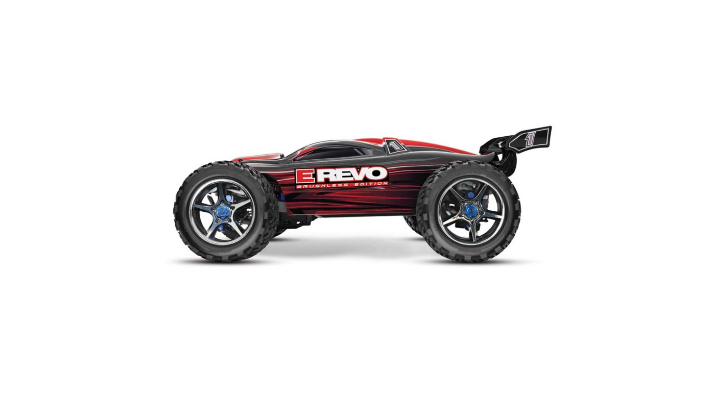 Image for 1/10 E-Revo 4WD Monster Truck Brushless RTR with TSM, Red from Horizon Hobby