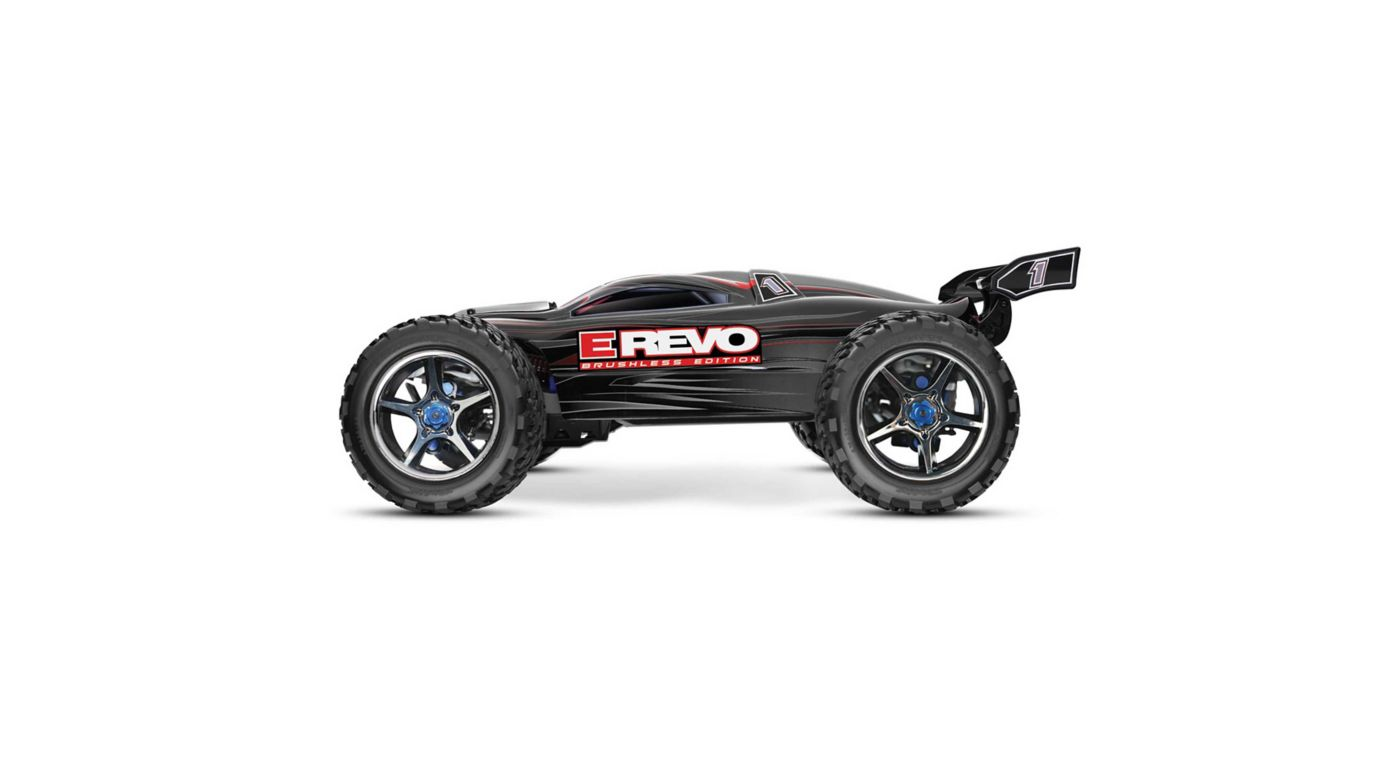 Image for 1/10 E-Revo 4WD Monster Truck Brushless RTR with TSM, Black from HorizonHobby