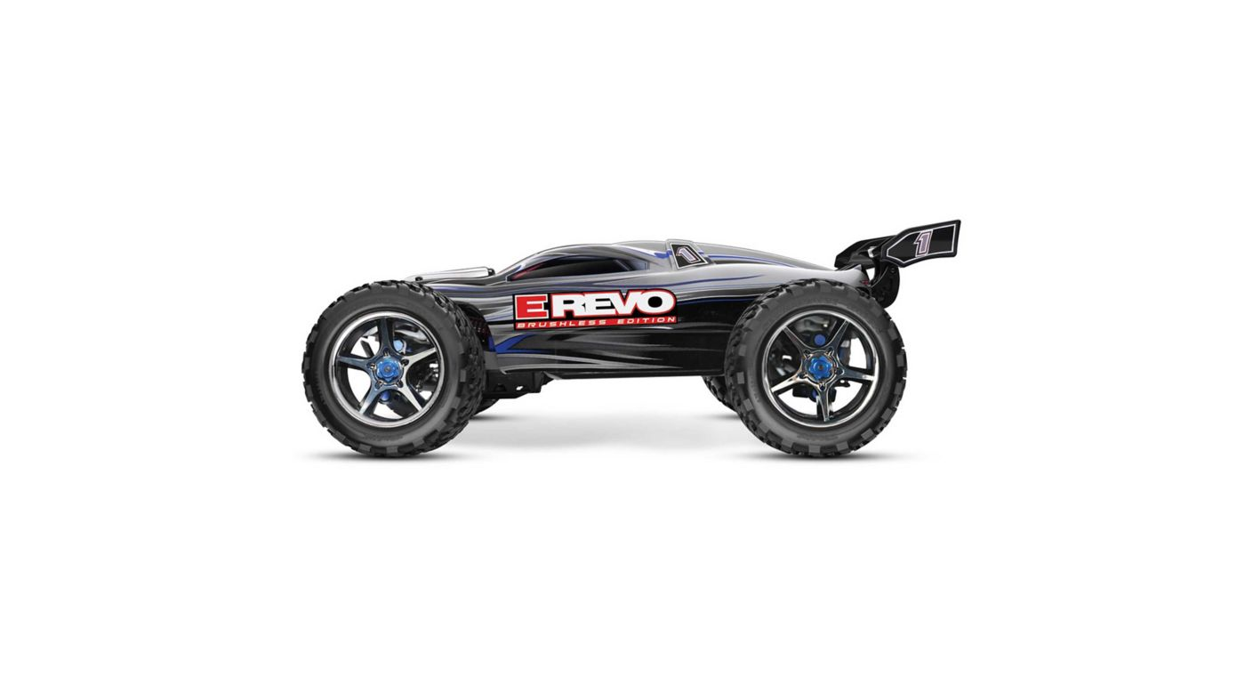 Image for 1/10 E-Revo 4WD Monster Truck Brushless RTR with TSM, Silver from HorizonHobby