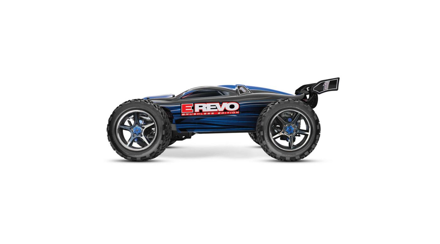 Image for 1/10 E-Revo 4WD Monster Truck Brushless RTR with TSM, Blue from HorizonHobby