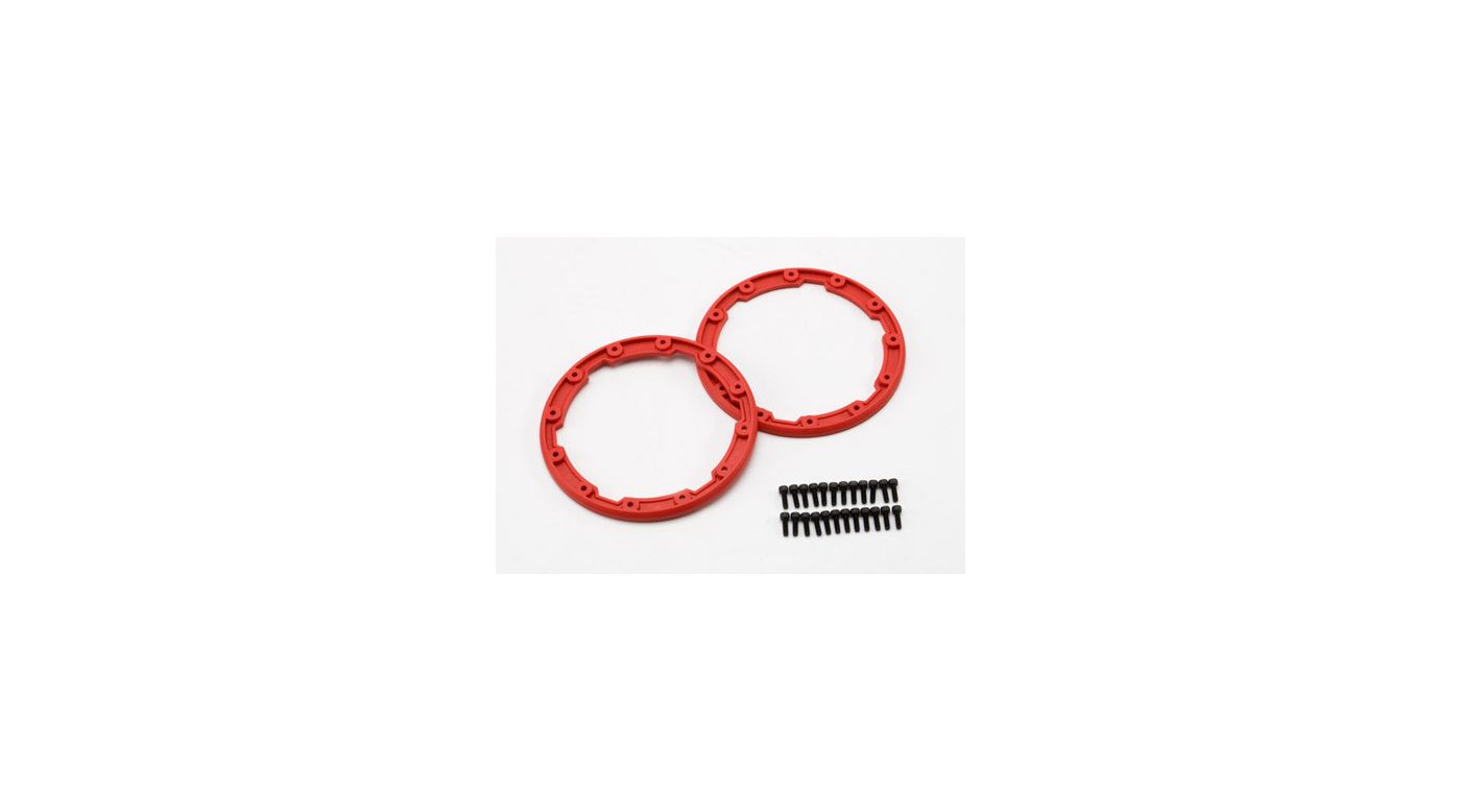Image for Sidewall Protector, Beadlock Style, Red (2):Summit from HorizonHobby