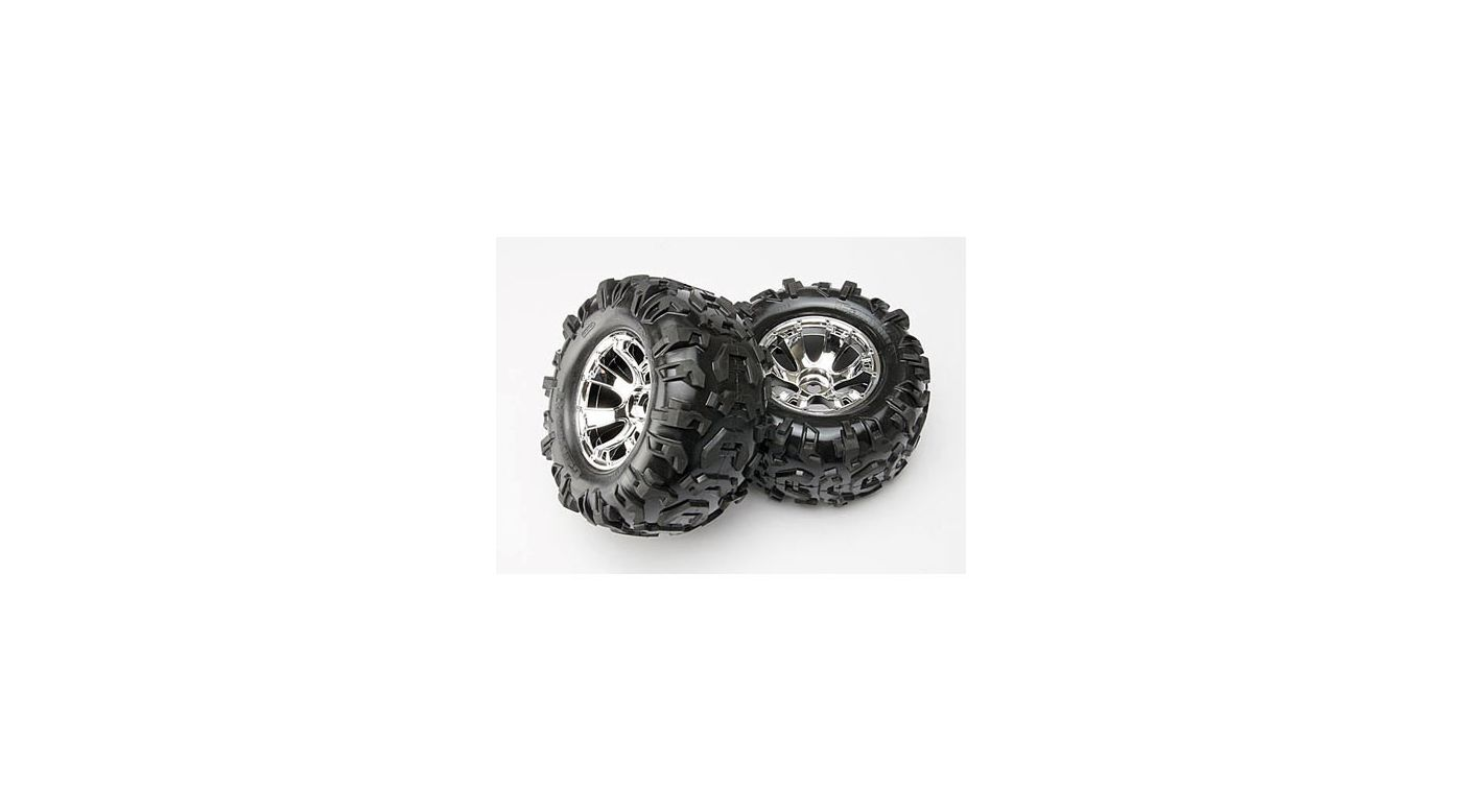 Image for Geode Chrome Wheels, Canyon Tires (2):Summit from Horizon Hobby