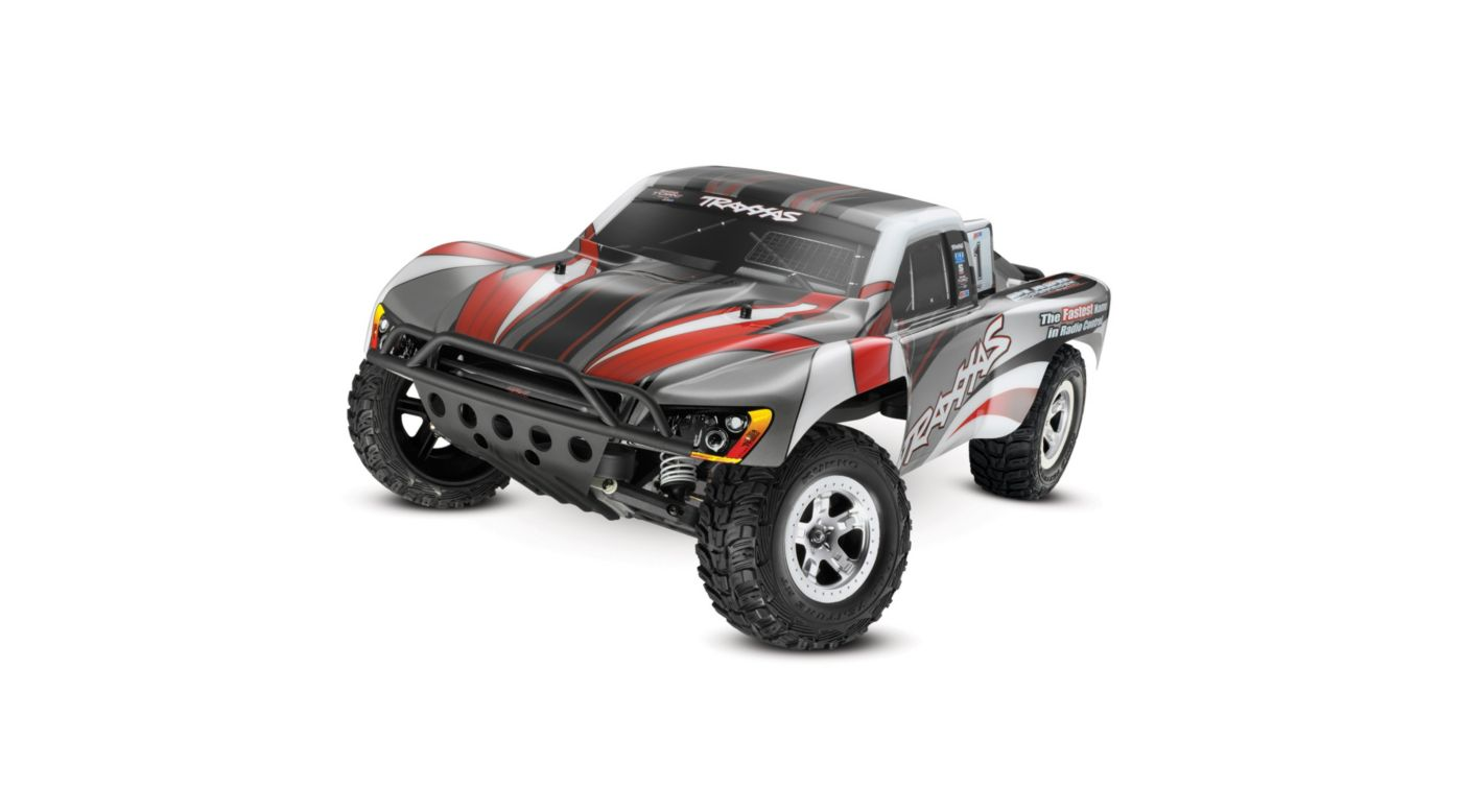 Image for Slash 2WD RTR w/ 2-Channel AM Radio Red/Silver Body from HorizonHobby
