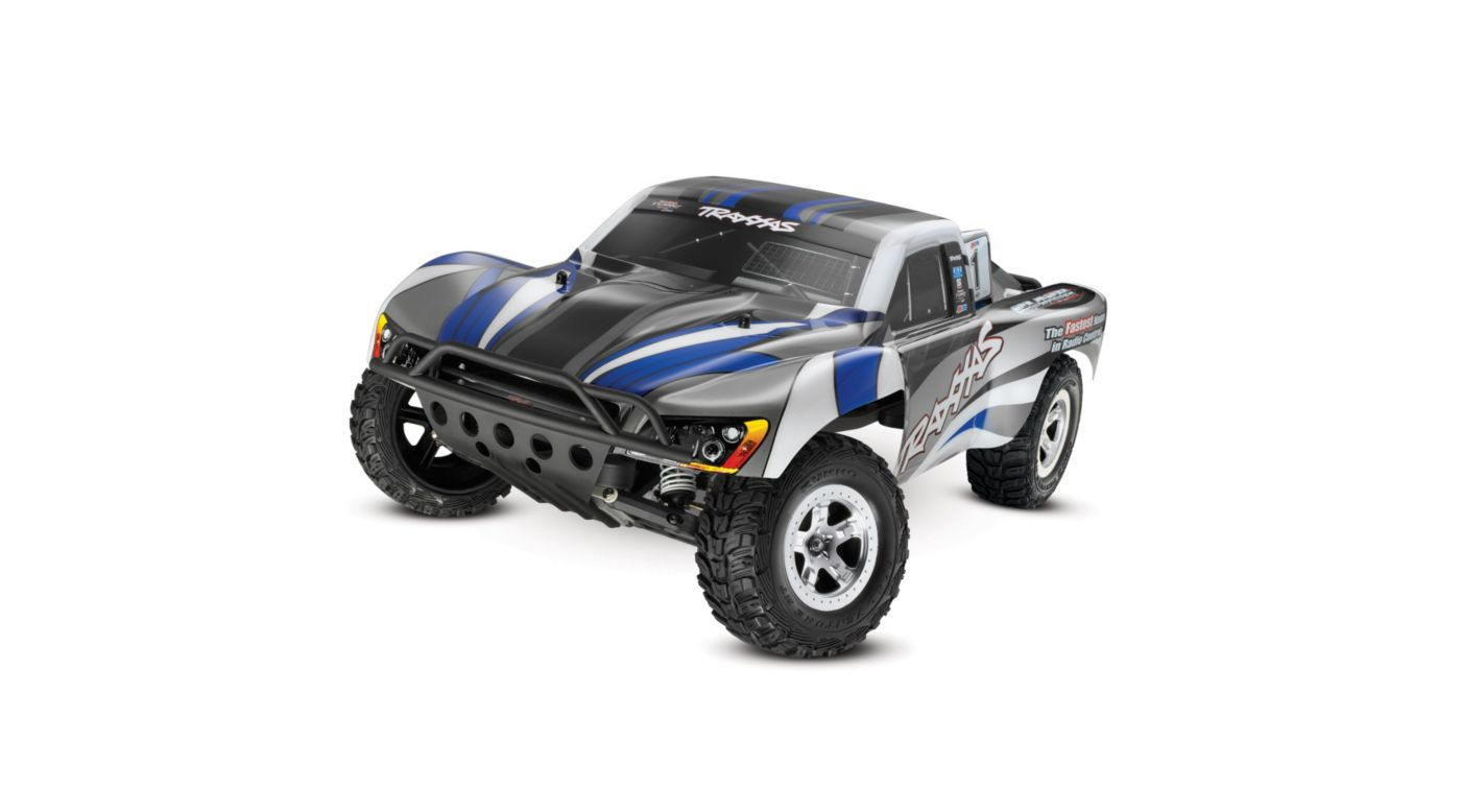 Image for Slash 2WD RTRw 2-Channel AM Radio Blue Silver Body from HorizonHobby