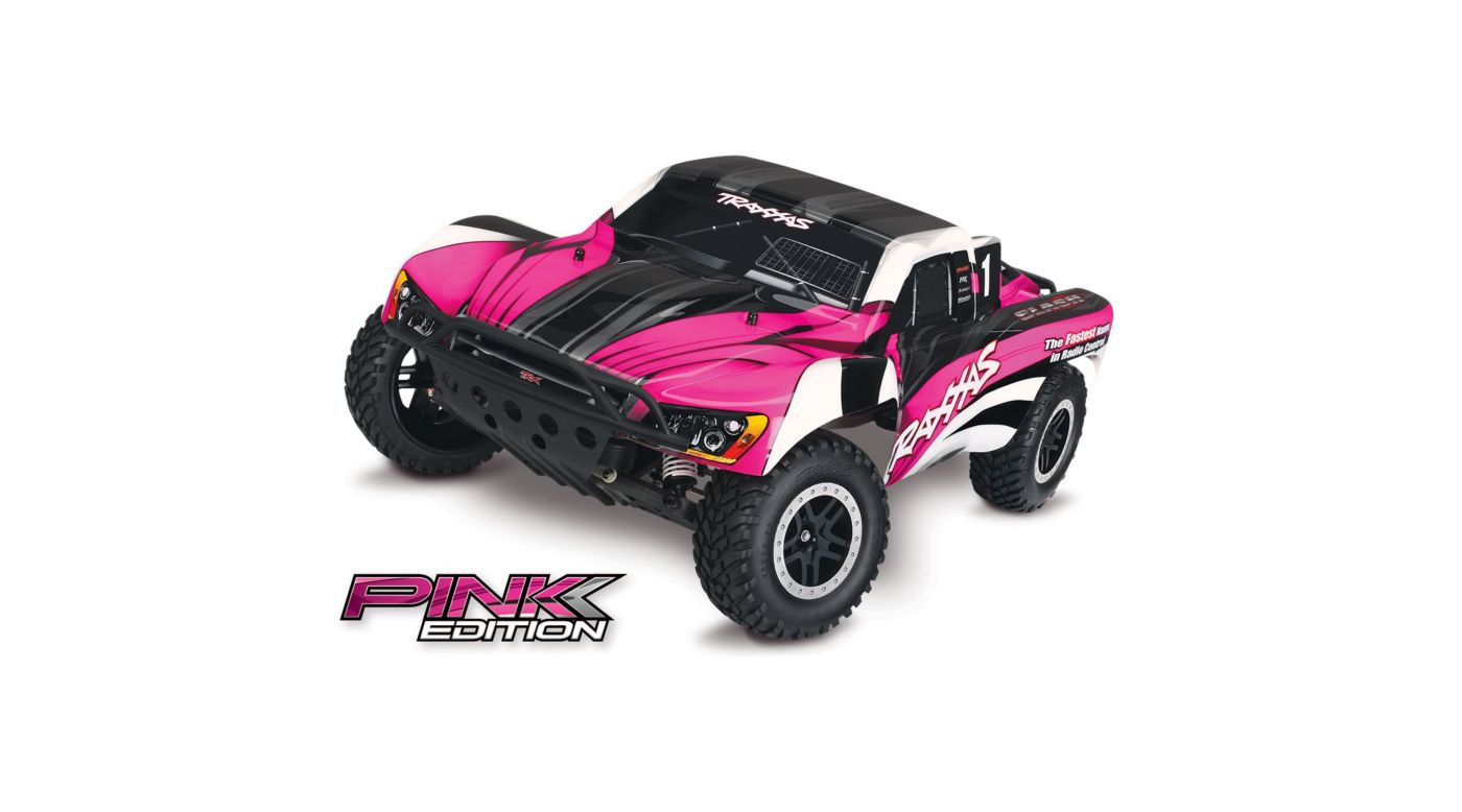 1/10 Slash 2WD SCT Brushed RTR with OBA, Pink Edition