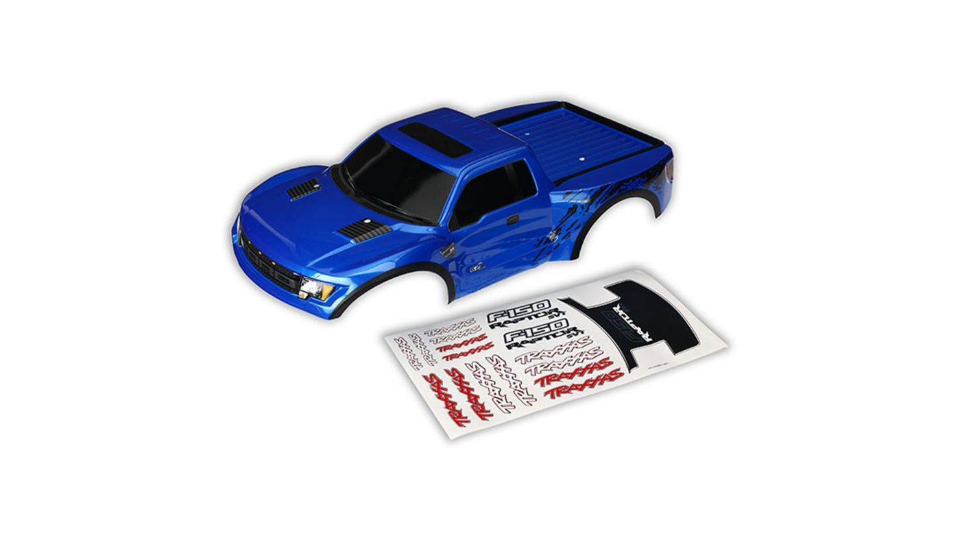 Image for 1/10 2WD Ford Raptor Body, Blue with Decals from HorizonHobby