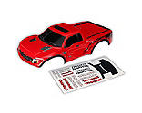 Traxxas - 1/10 2WD Ford Raptor Body, Red with Decals