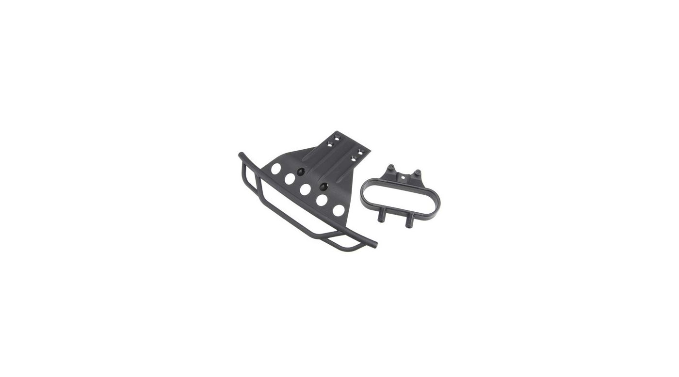 Image for Front Bumper / Bumper Mount, Black: Slash from HorizonHobby