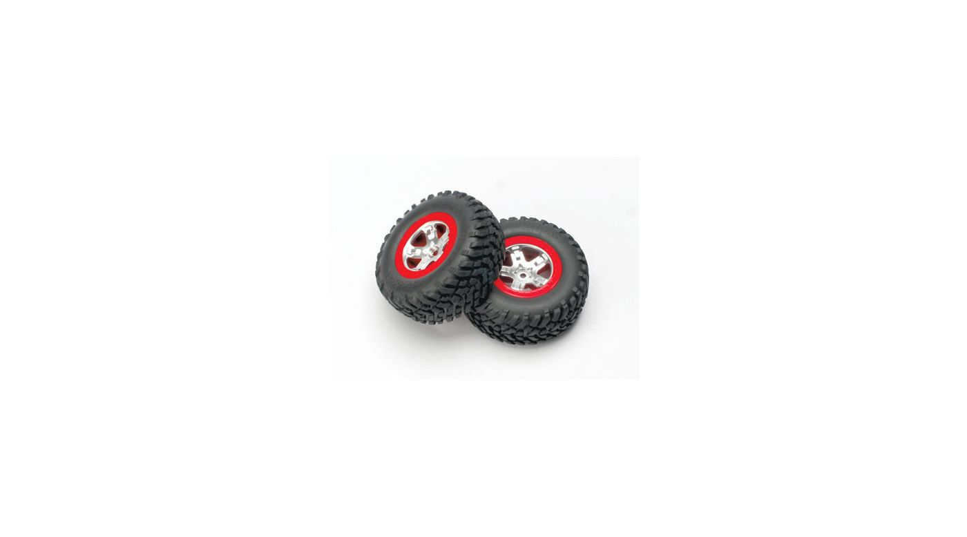 Image for Rear Satin Chrome Wheels&Off-Road Tires(2):Slash from HorizonHobby