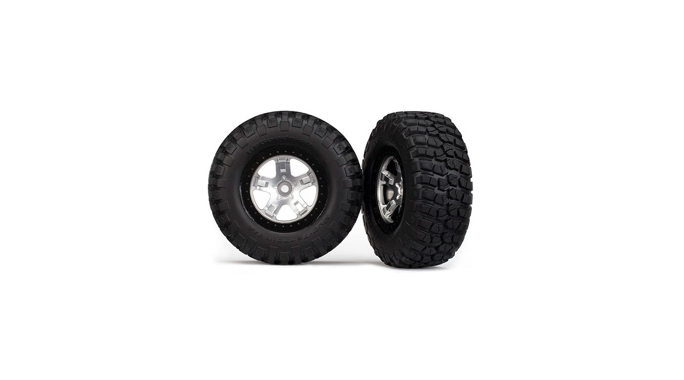 Image for Chrome Blk Beadlock w/Tire (2):SLH 2WD R,4WD FR.R from HorizonHobby