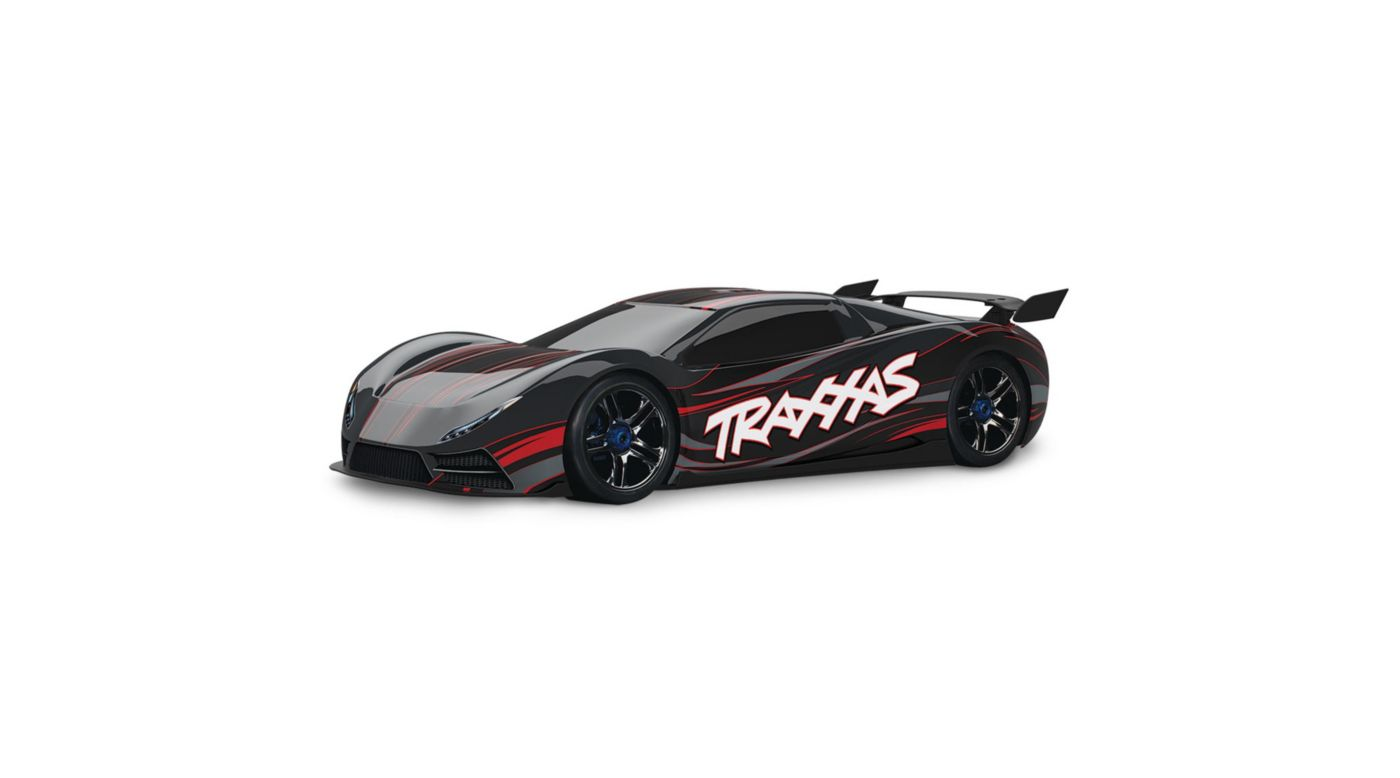 Image for 1/7 X0-1 4WD Supercar Brushless RTR with TSM, Black from HorizonHobby