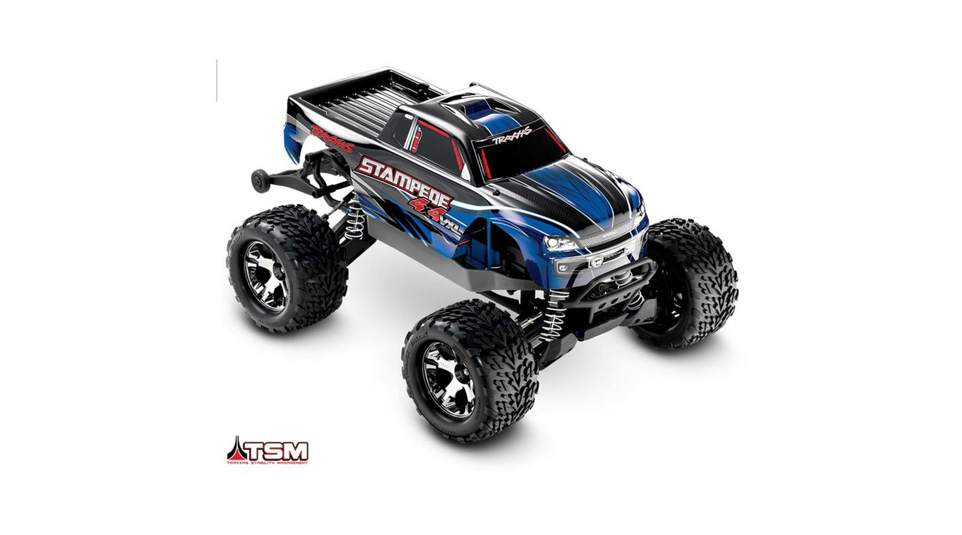 Image for 1/10 Stampede VXL 4WD Monster Truck Brushless RTR with TSM, Blue from Horizon Hobby