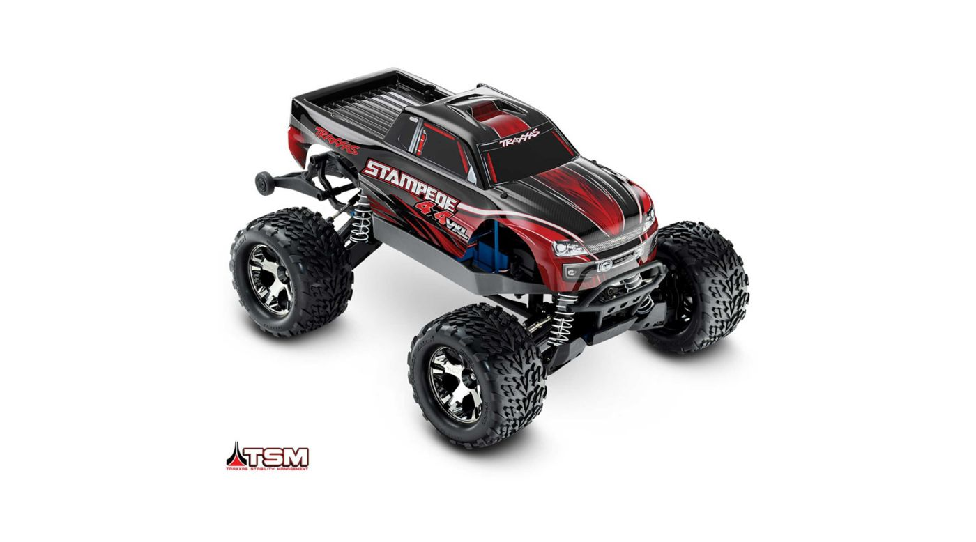 Image for 1/10 Stampede VXL 4WD Monster Truck Brushless RTR with TSM, Red from Horizon Hobby