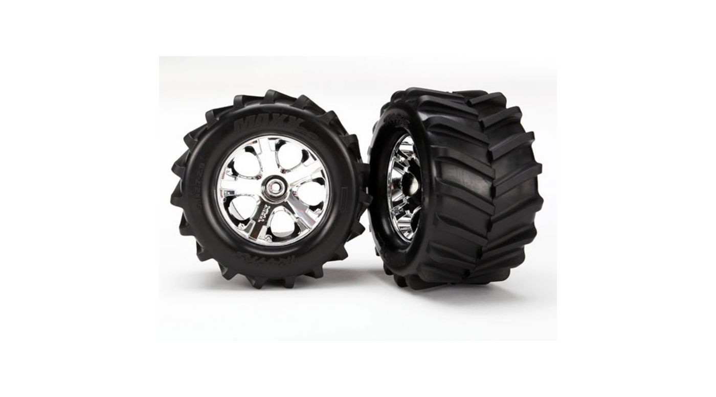 Image for Maxx Tires, 2.8 All-Star Chrome Wheels: ST 4x4 from HorizonHobby
