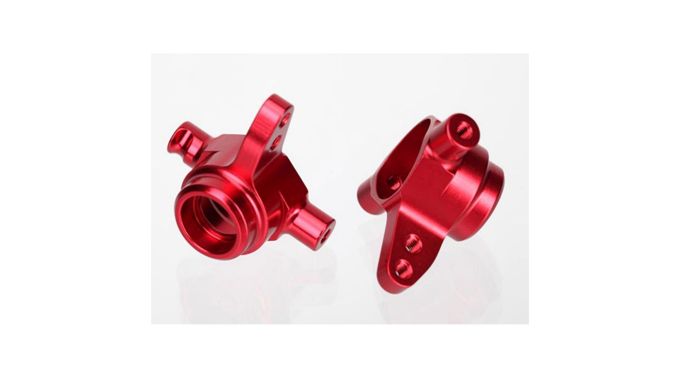 Image for Alum Steering Blocks (L&R), Red: SLH 4x4, Stamp 4x4 from HorizonHobby