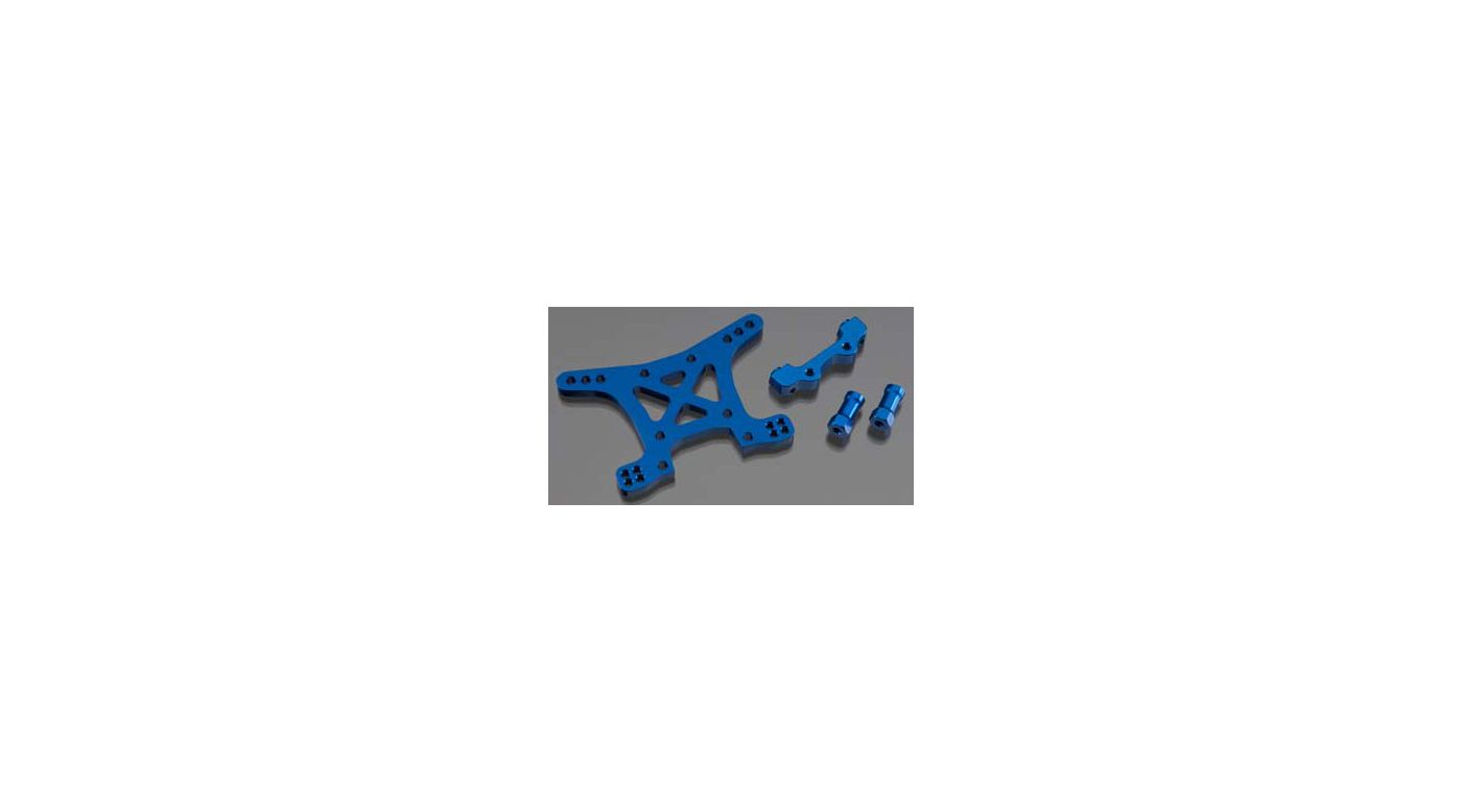 Image for Aluminum Front Shock Tower, Blue: SLH 4x4 from HorizonHobby