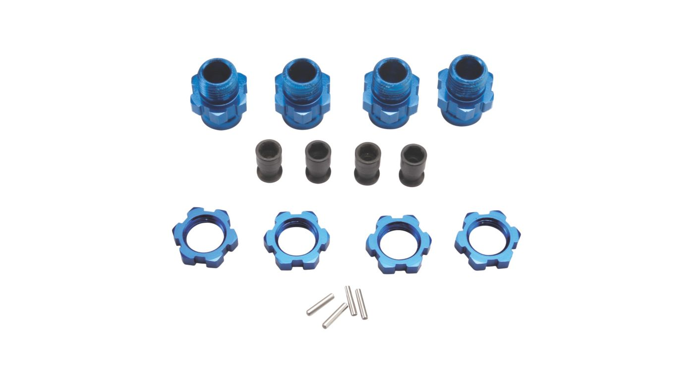 Image for 17mm Wheels Hubs (4), Blue: Slash 4x4,Stampede 4x4 from HorizonHobby