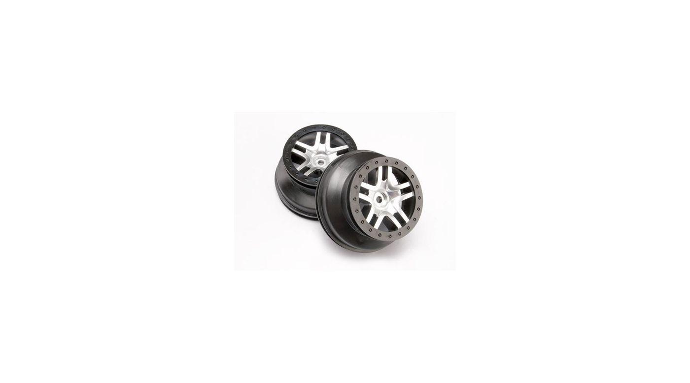 Image for SCT Split Spoke Chrome Wheel (2): Rear 2WD SLH, SLH 4x4 from HorizonHobby