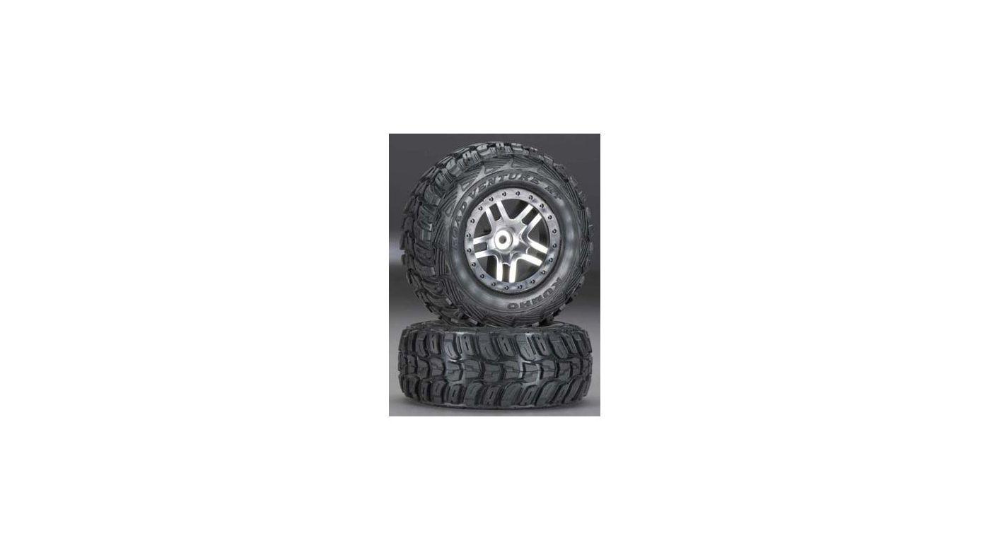 Image for Split Spoke Wheel & Soft Kumho Tire (2): 4WD FR/R from HorizonHobby